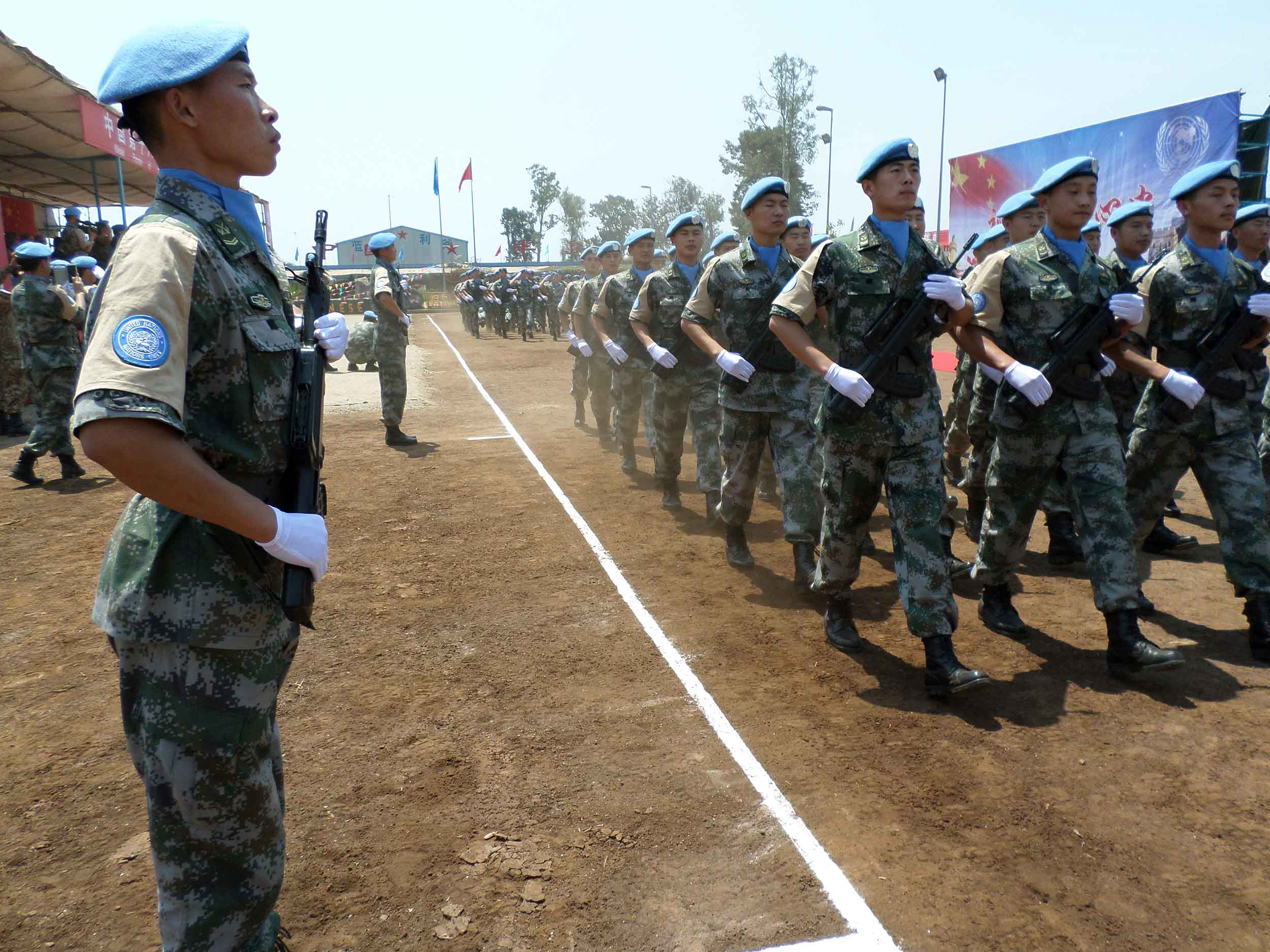 The Chinese contingent from MONUSCO operating in the South Kivu province. © MONUSCU Photo's/Flickr