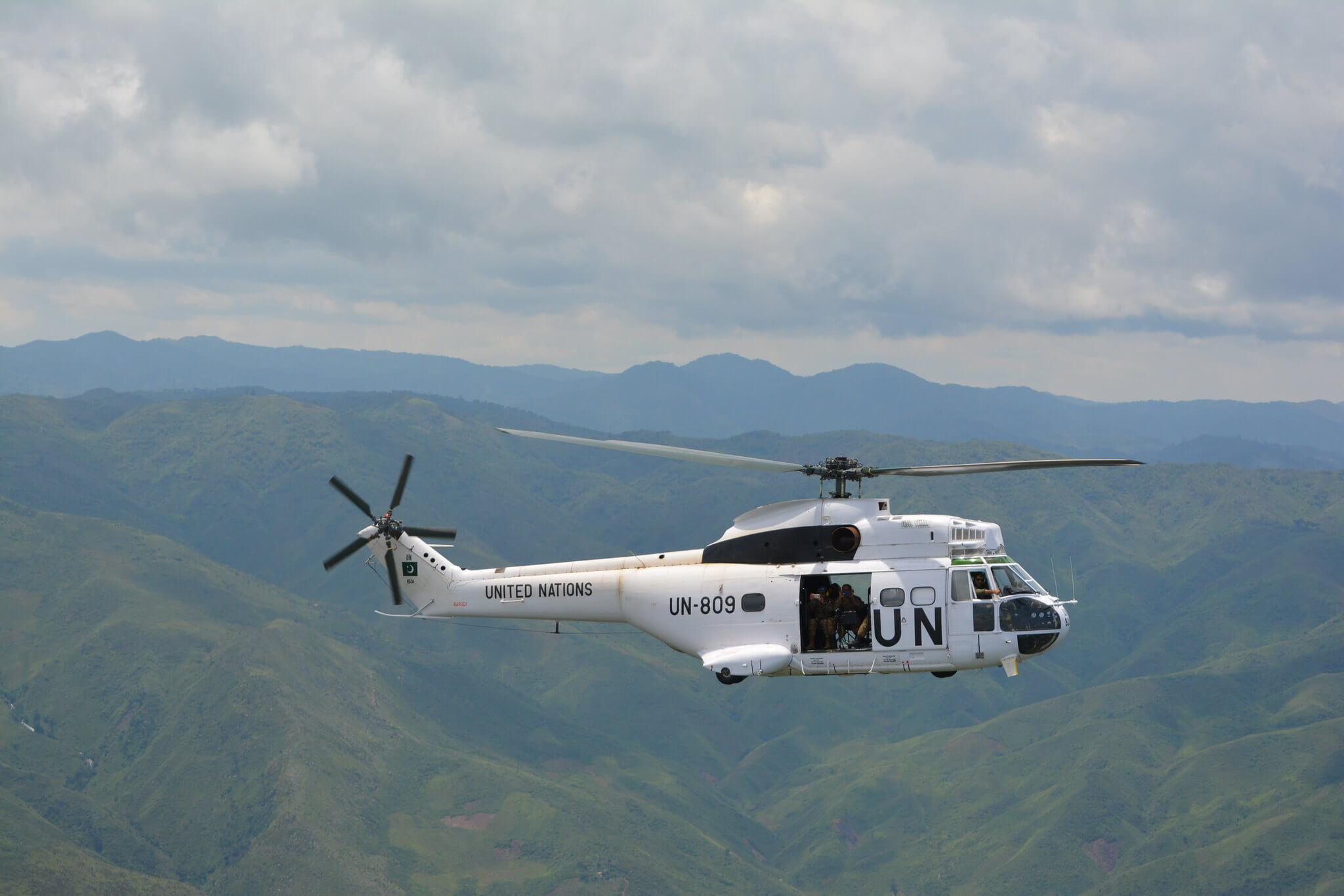 Aerial surveillance mission carried out by the MONUSCO Force. © MONUSCU Photo's/Flickr