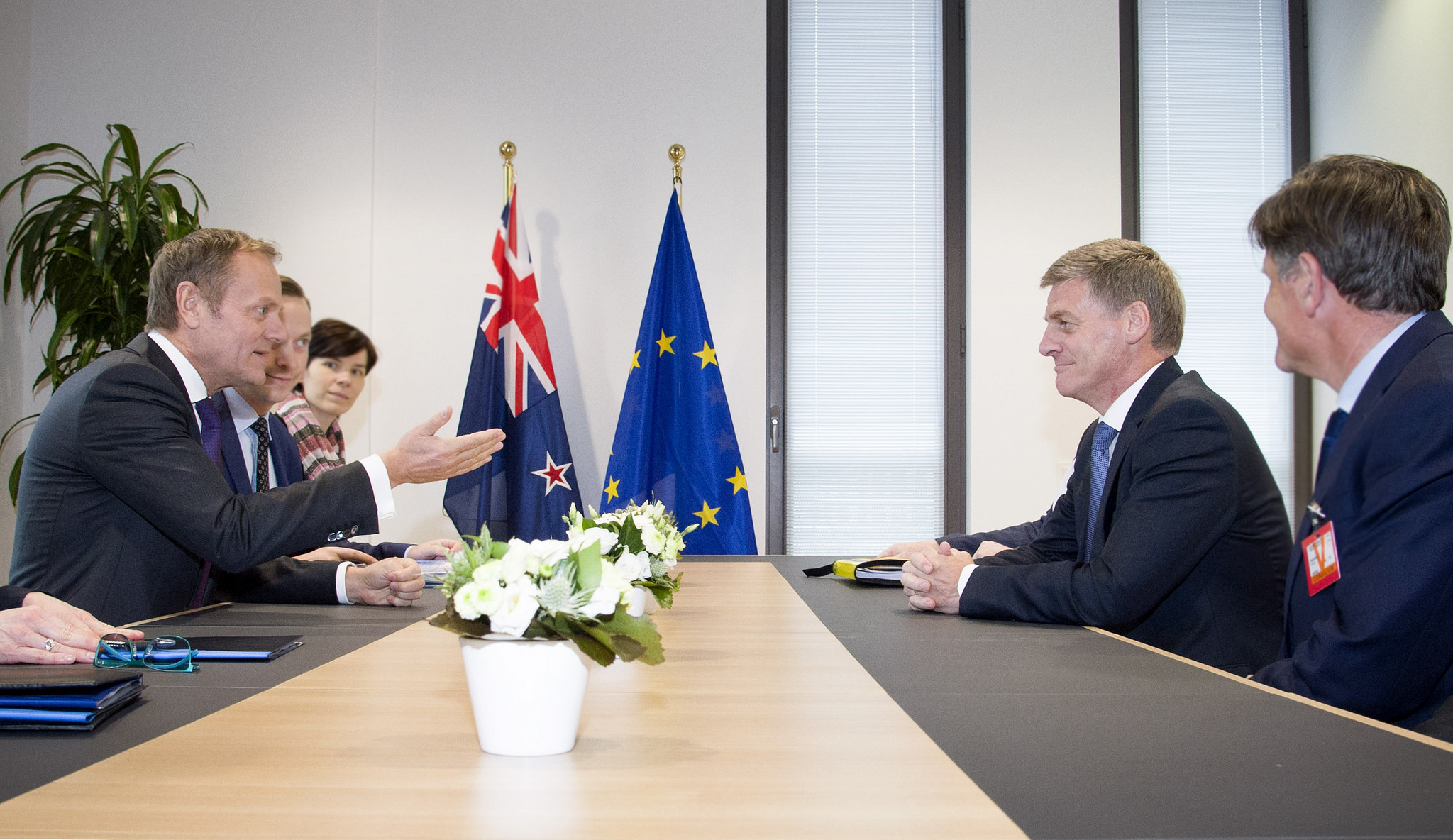 Tusk and PM of New Zealand English
