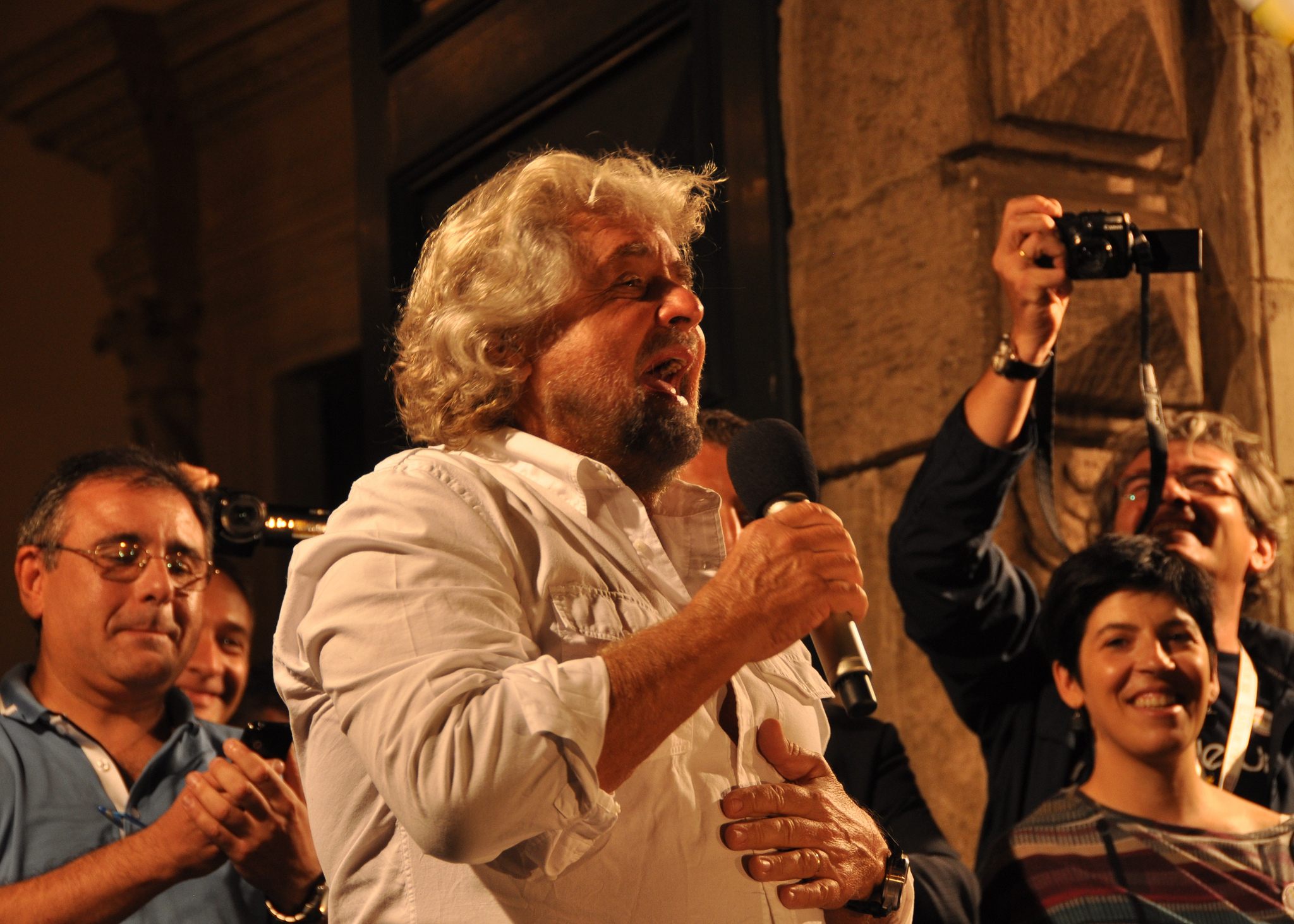 Beppe Grillo of the Cinque Stelle Movement
