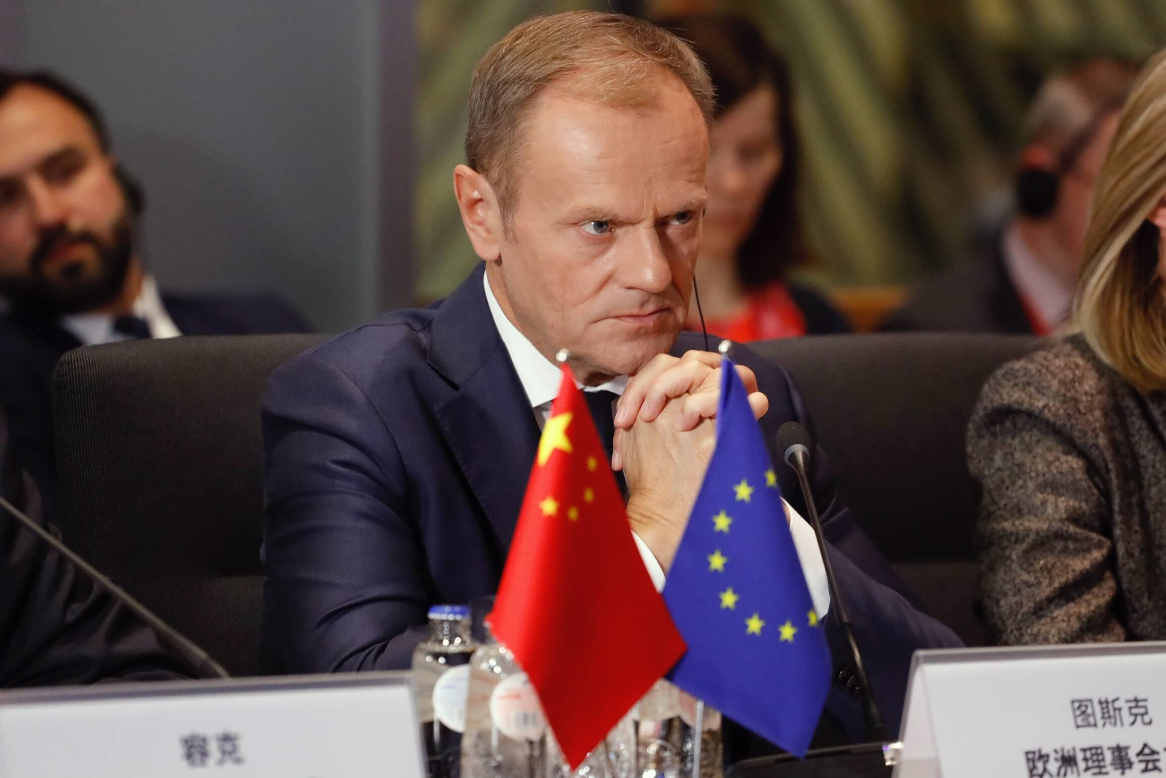 Biscop-President of the European Council Donald Tusk at the EU-China summit, April 2019. © European Union