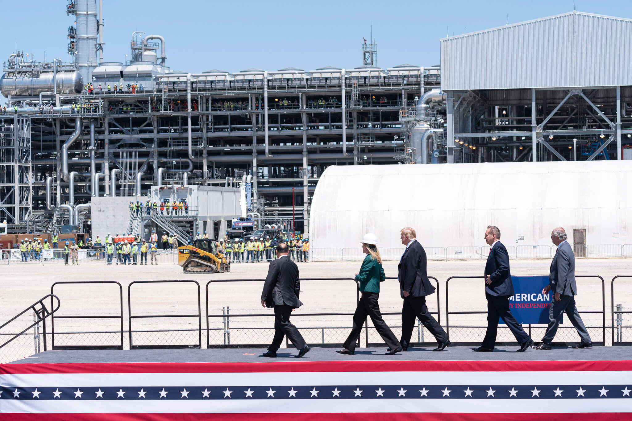Boxhoorn - President Trump visits the Cameron LNG Export Terminal in Louisiana, May 2019. Wikimediacommons