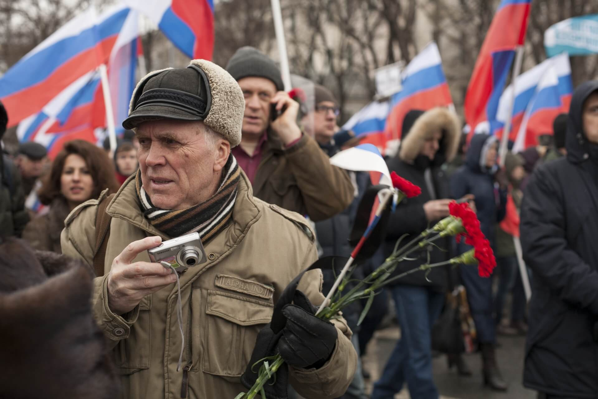 Brouwers-foto5-1 March 2015-Mourning rally in Moscow-Boris Nemtsov murder-Dmitry Nosachev-Flickr