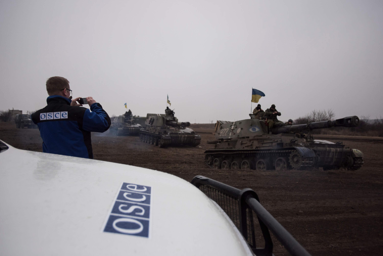 Crump-OVSE personeel monitort het conflict in Oost-Oekraïne. © OCSE Special Monitoring Mission to Ukraine - Flickr