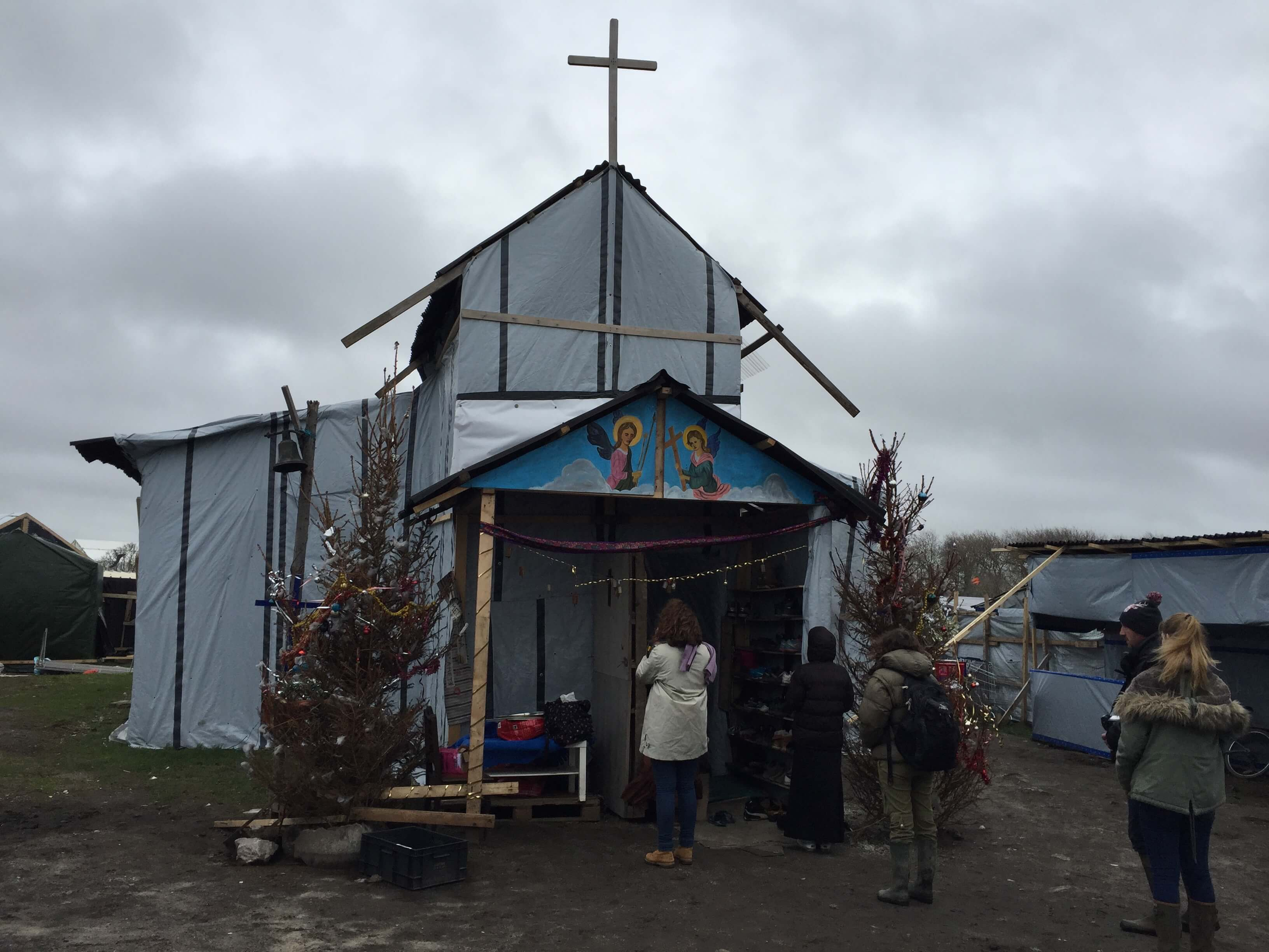 Kerk in de Jungle van Calais