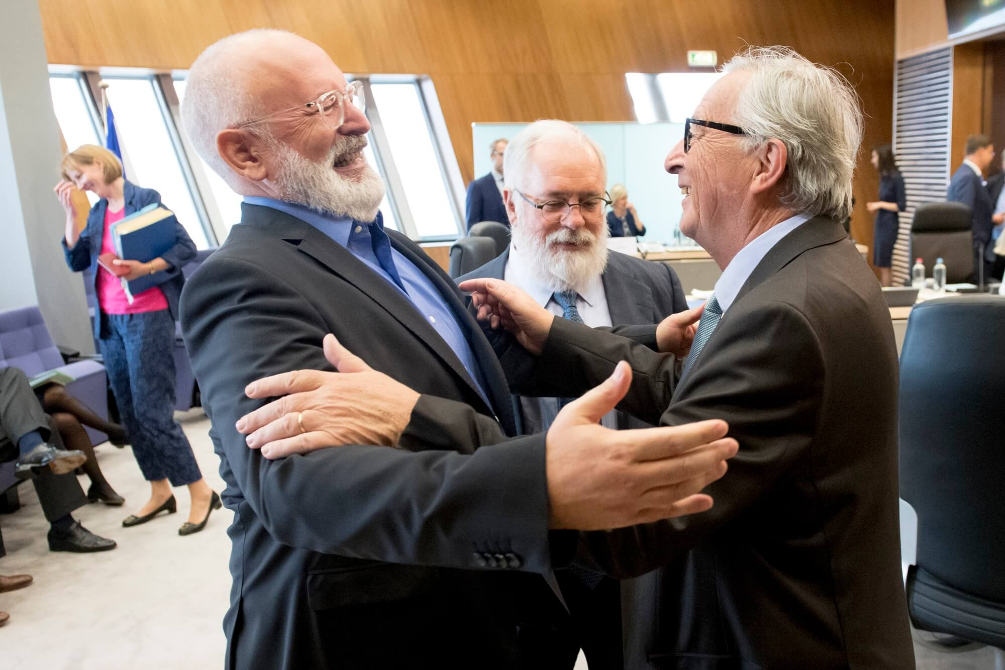 Frans Timmermans met Jean-Claude Juncker begin september 2019 in Brussel. © European Union 2019