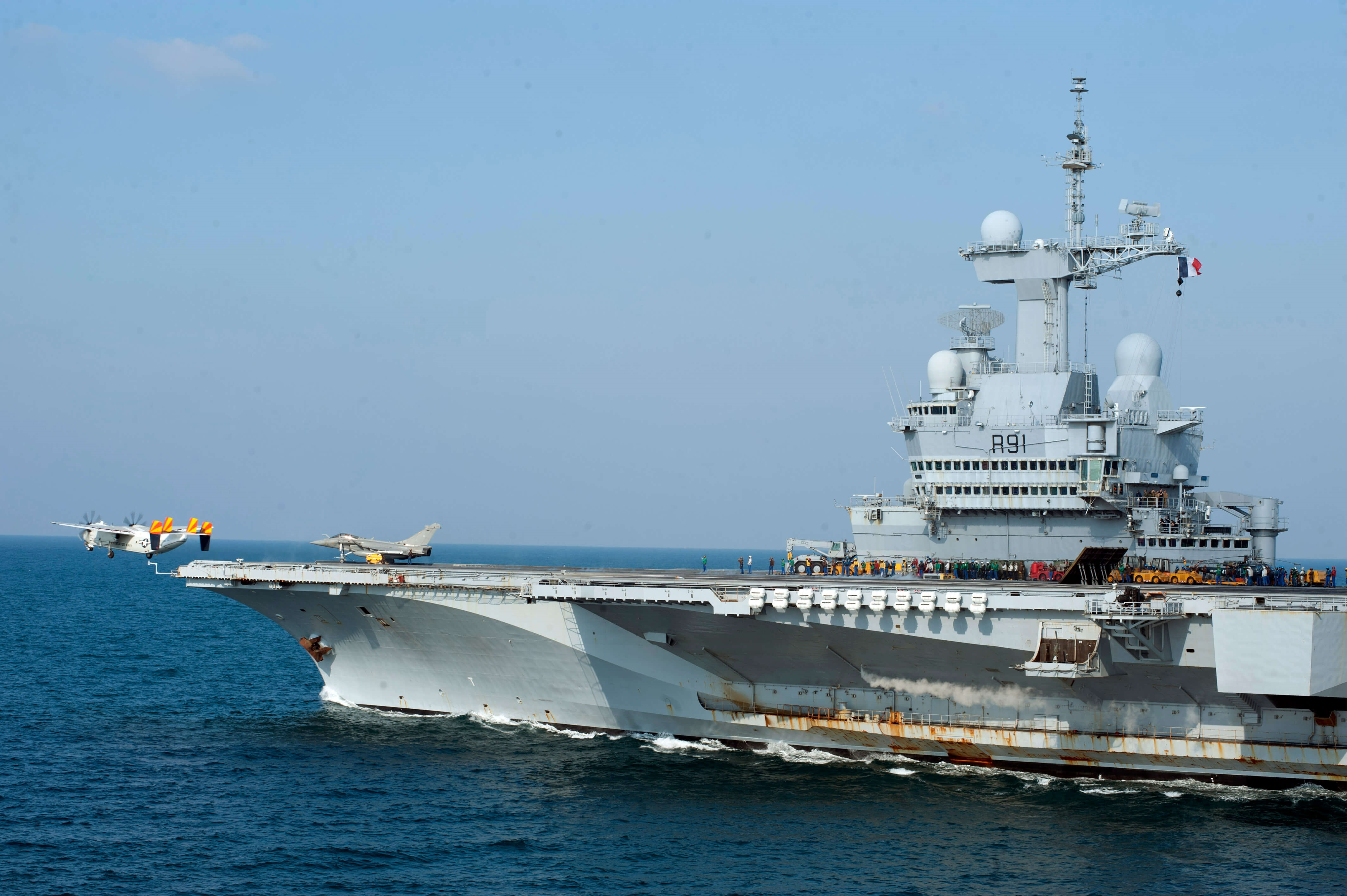 The French aircraft carrier 'Charles De Gaulle'. © Wikimedia Commons