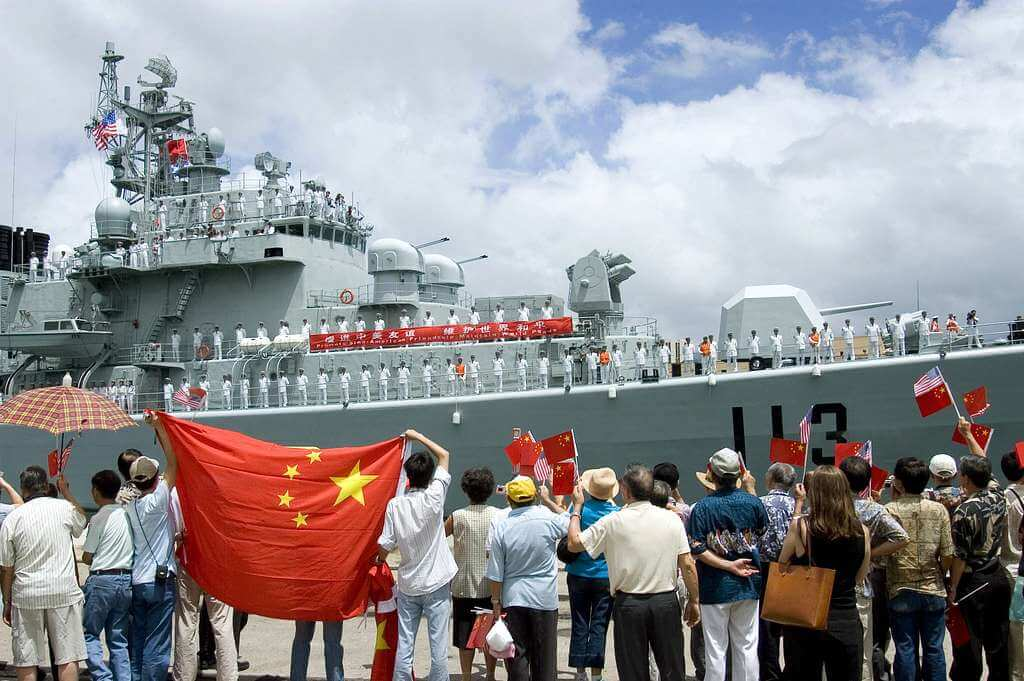 The Chinese naval vessel Qingdao in 2006. © Picryl