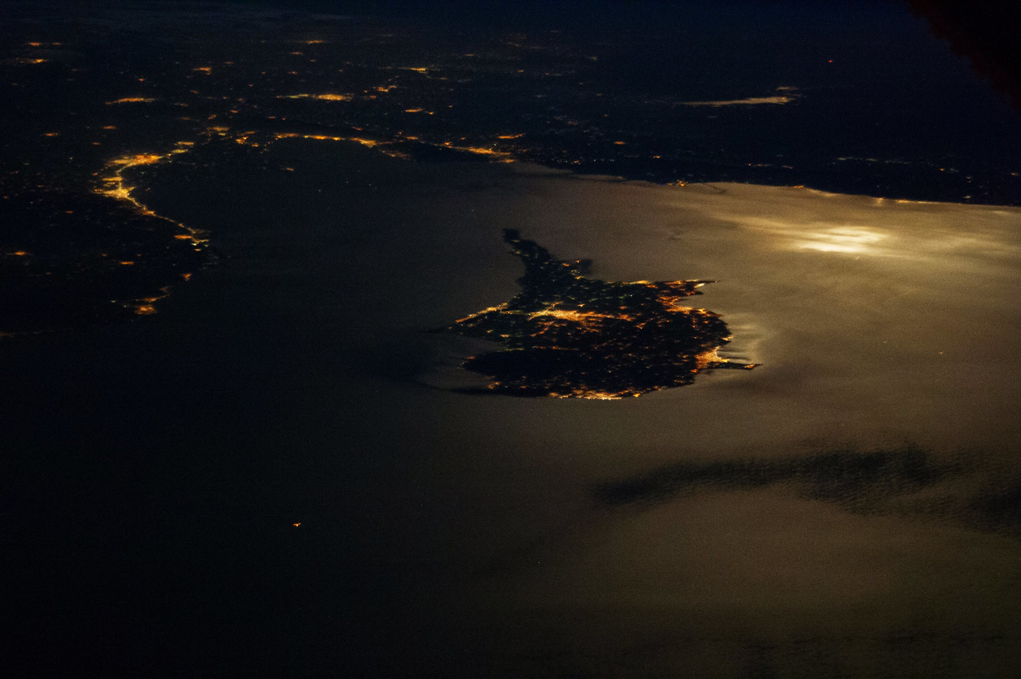 Cyprus seen from the air at night. © Stuart Rankin / Flickr