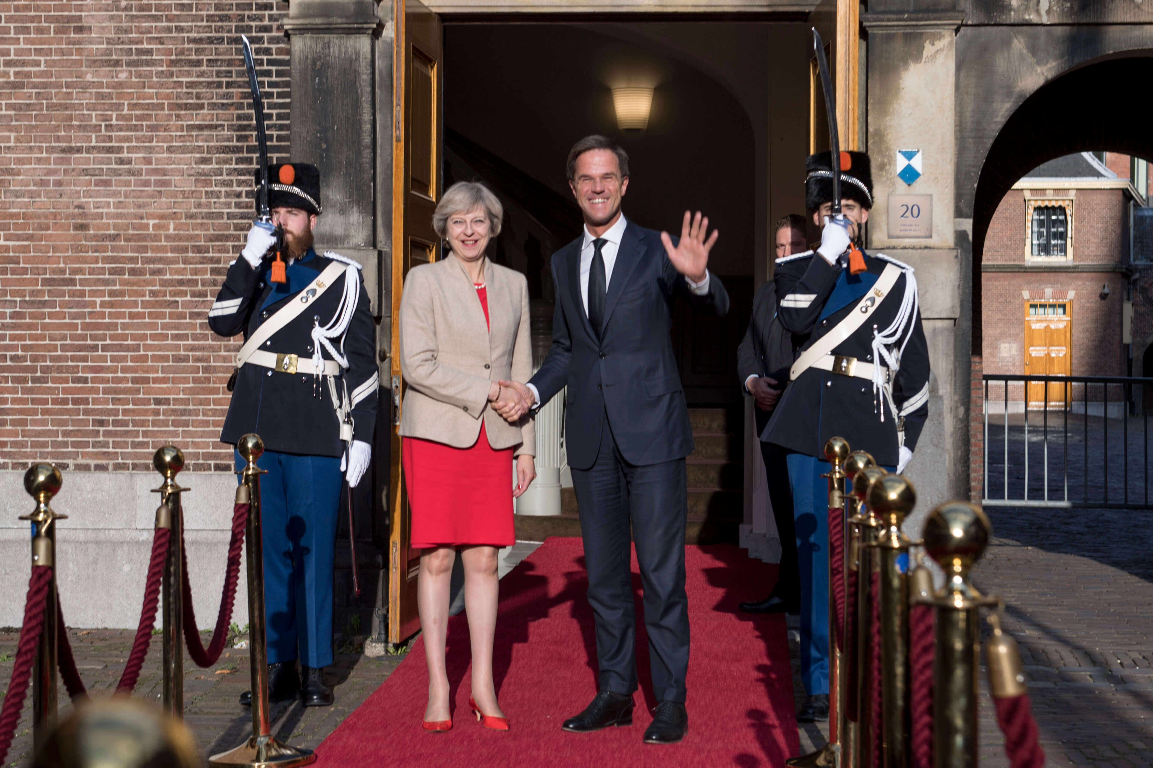 Premier Mark Rutte met de Britse premier Theresa May. ©  Number 10 / Flickr
