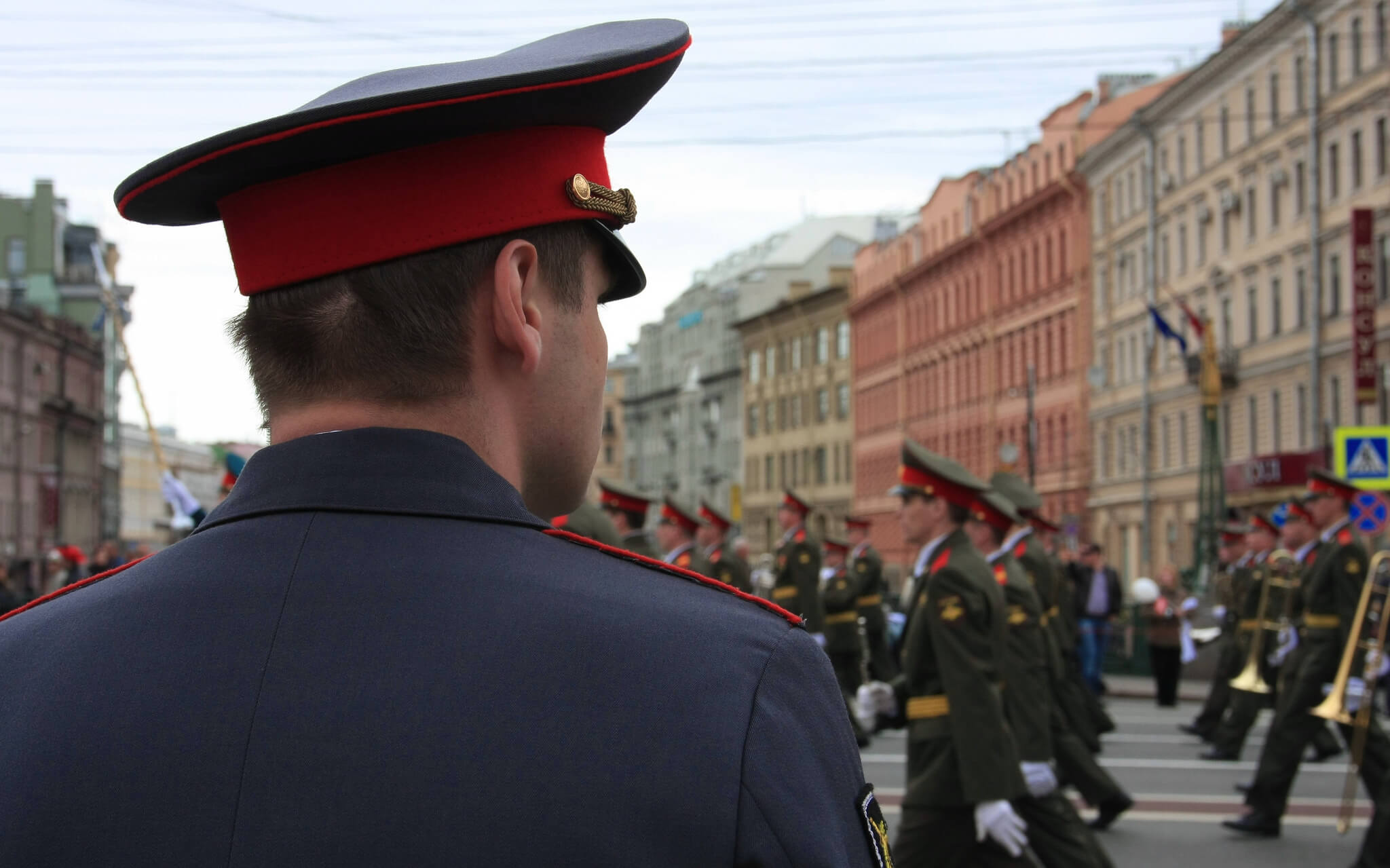 Parade in Sint Petersburg, ter viering van de 300e verjaardag van de stad in 2013. Bron: Richard Burghause / Flickr