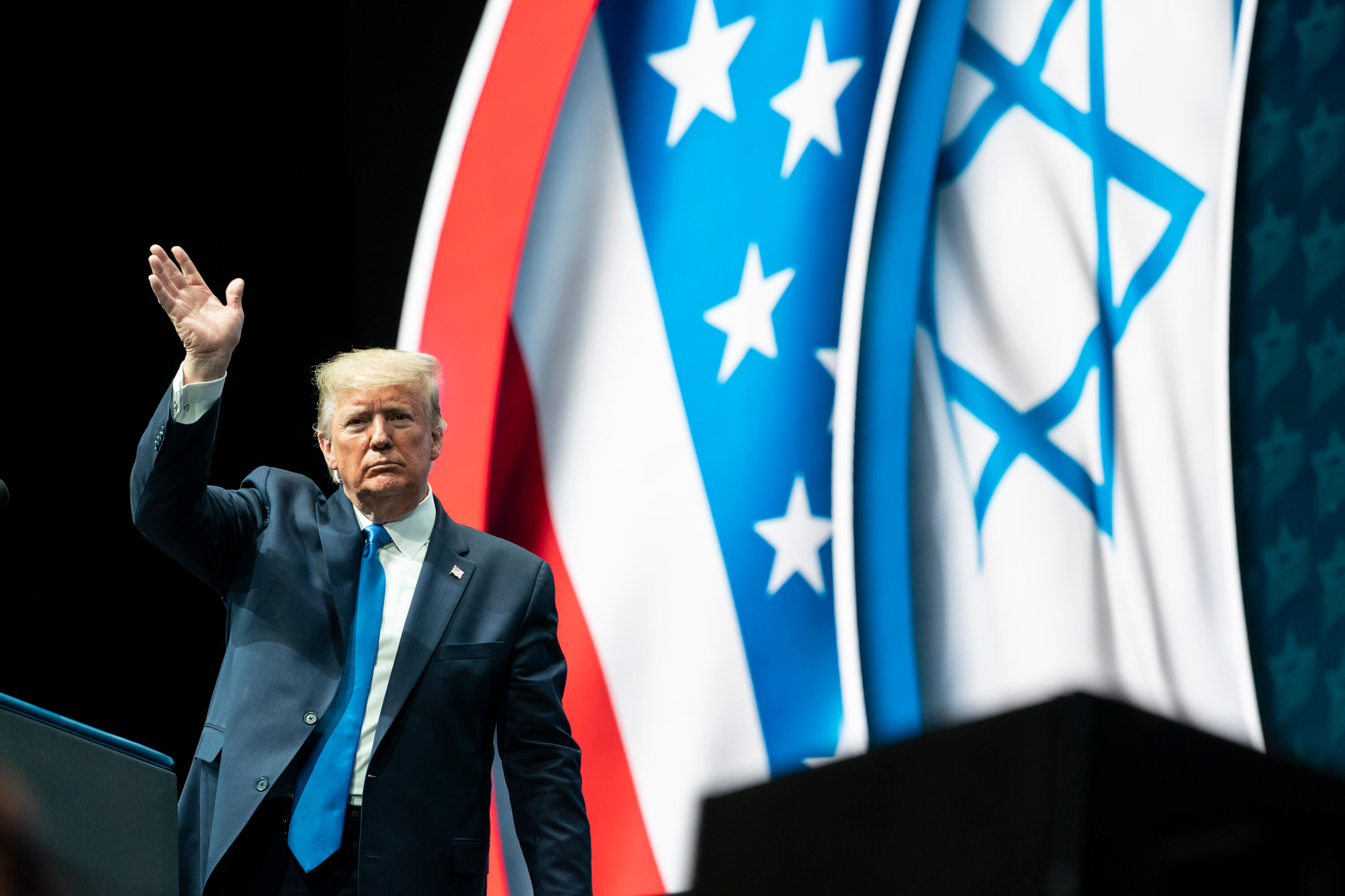 President Trump at the Israeli American Council National Summit, 2019. © The White House - Flickr.jpg
