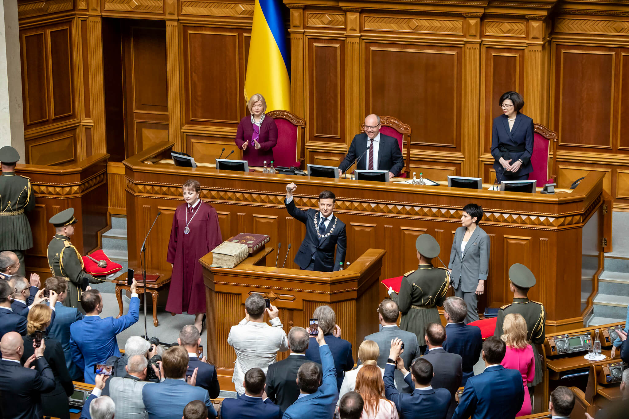 On May 20 2019, newly elected President of Ukraine Volodymyr Zelensky was sworn in as Head of State. © U.S. Embassy Kyiv Ukraine