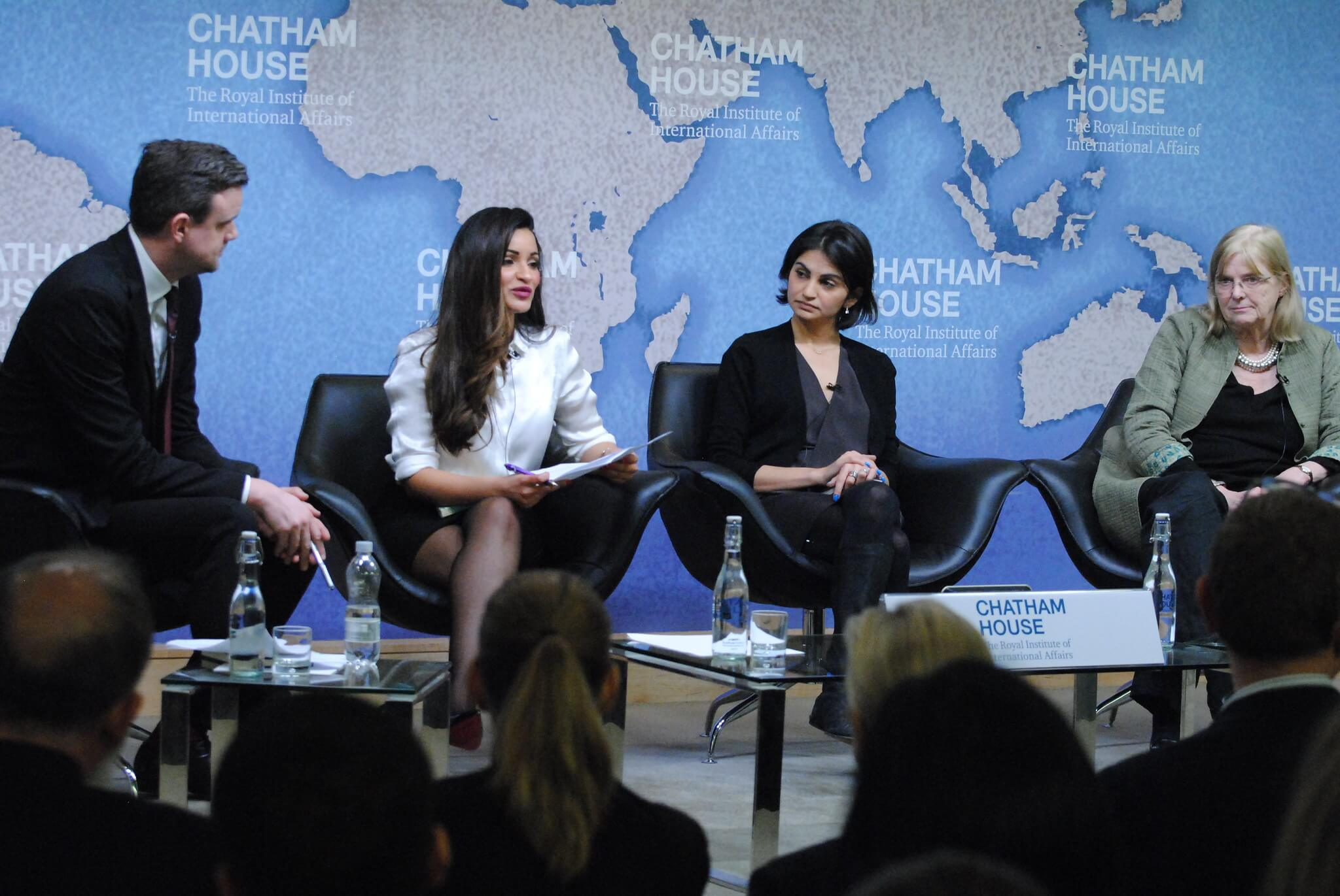 Bijeenkomst 'The Future for Women in Saudi Arabia' in 2017 in Chatham House, Londen. © Chatham House / Flickr