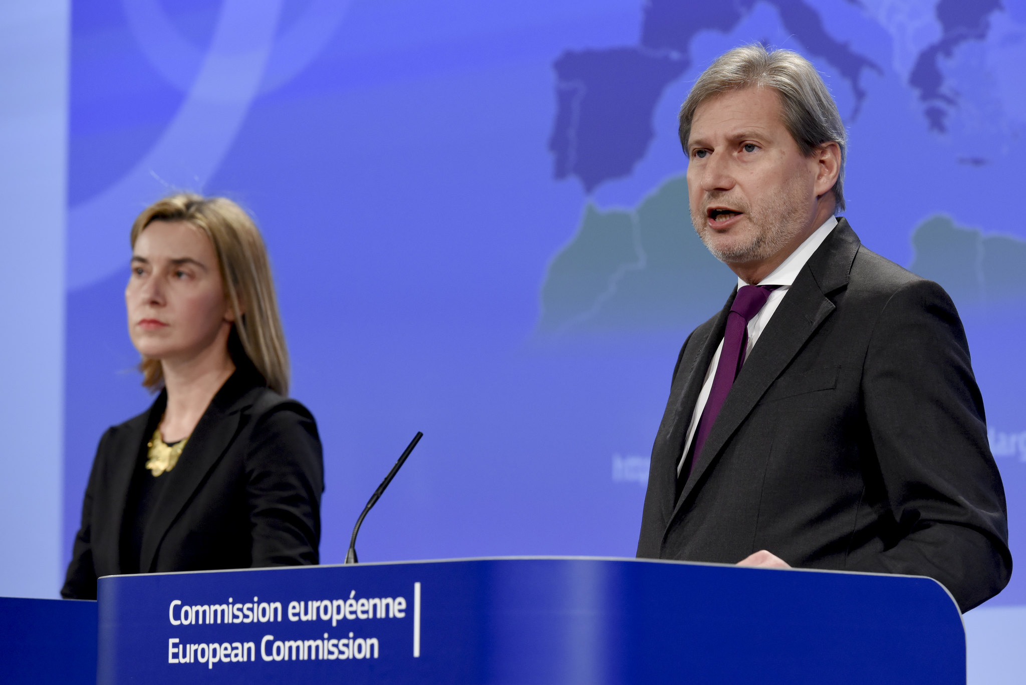 EU Commissioner of Enlargement Policy Johannes Hahn & High Representative Federica Mogherini