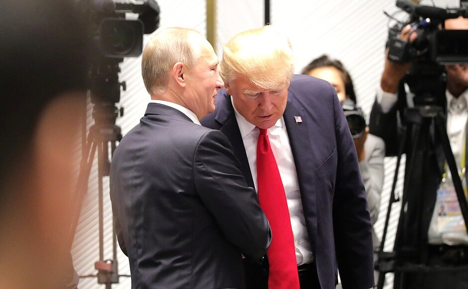 Kuzio-On the sidelines of the 25th APEC Economic Leaders' Meeting. With President of the United States Donald Trump. 2017 The 25th APEC Economic Leaders' Meeting ended in Danang. Kremlin.ru