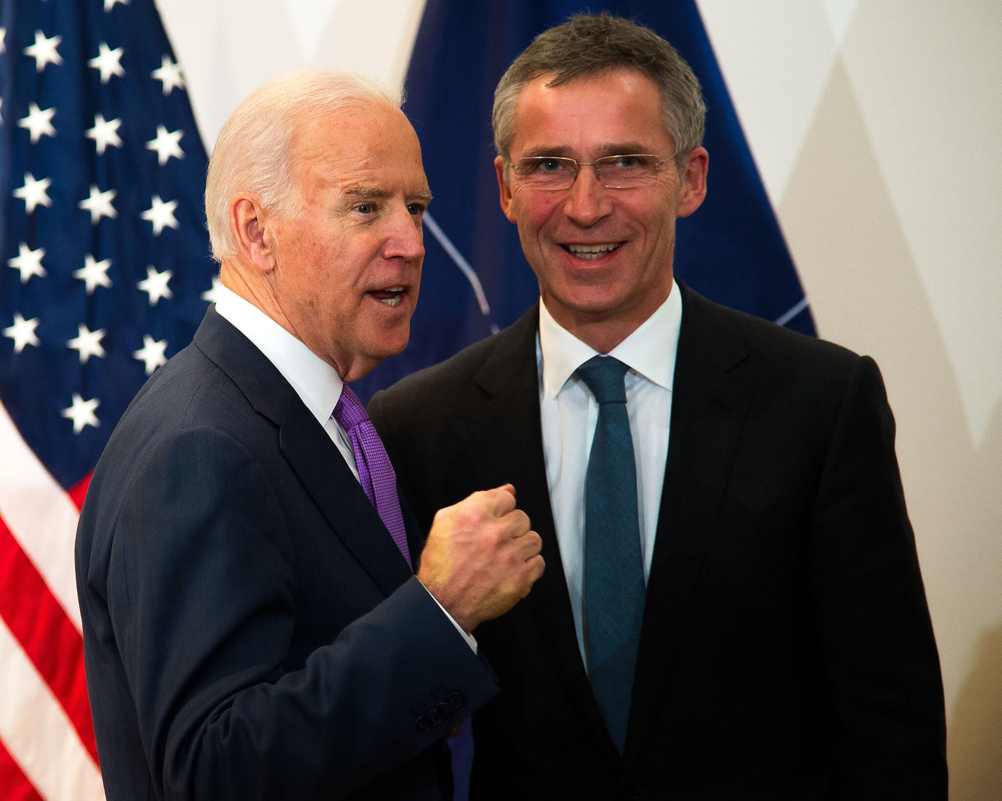 Klijn-Bilateral meeting between NATO Secretary General Jens Stoltenberg and US Vice President Joe Biden in 2015. NATO