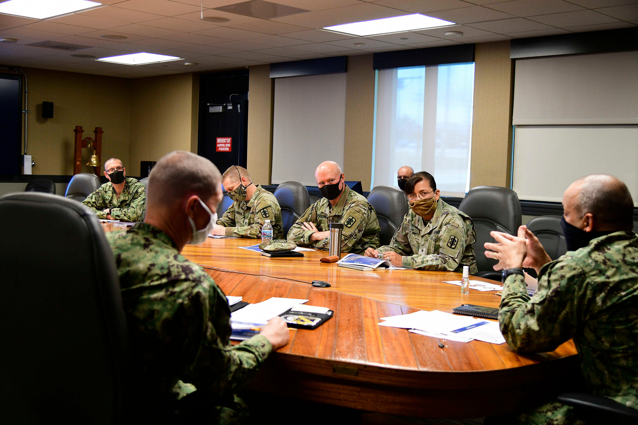 Klijn-COVID-19 response plan briefing by the Joint Region Marianas (JRM) in April 2020. U.S. Indo-Pacific Command