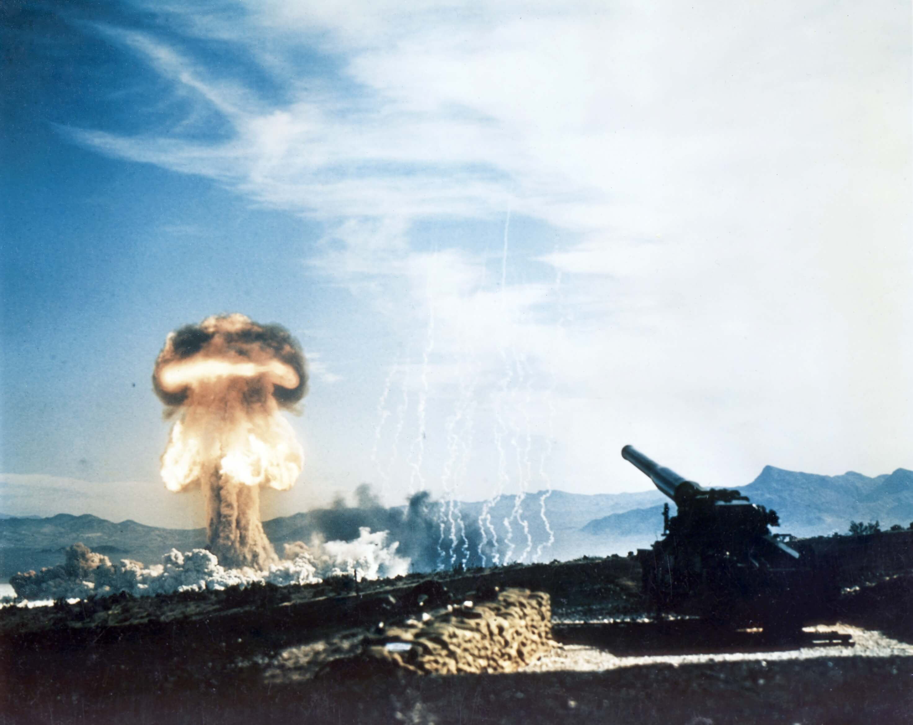 Nuclear artillery test Grable Event in Nevada, 1953. © National Nuclear Security Administration
