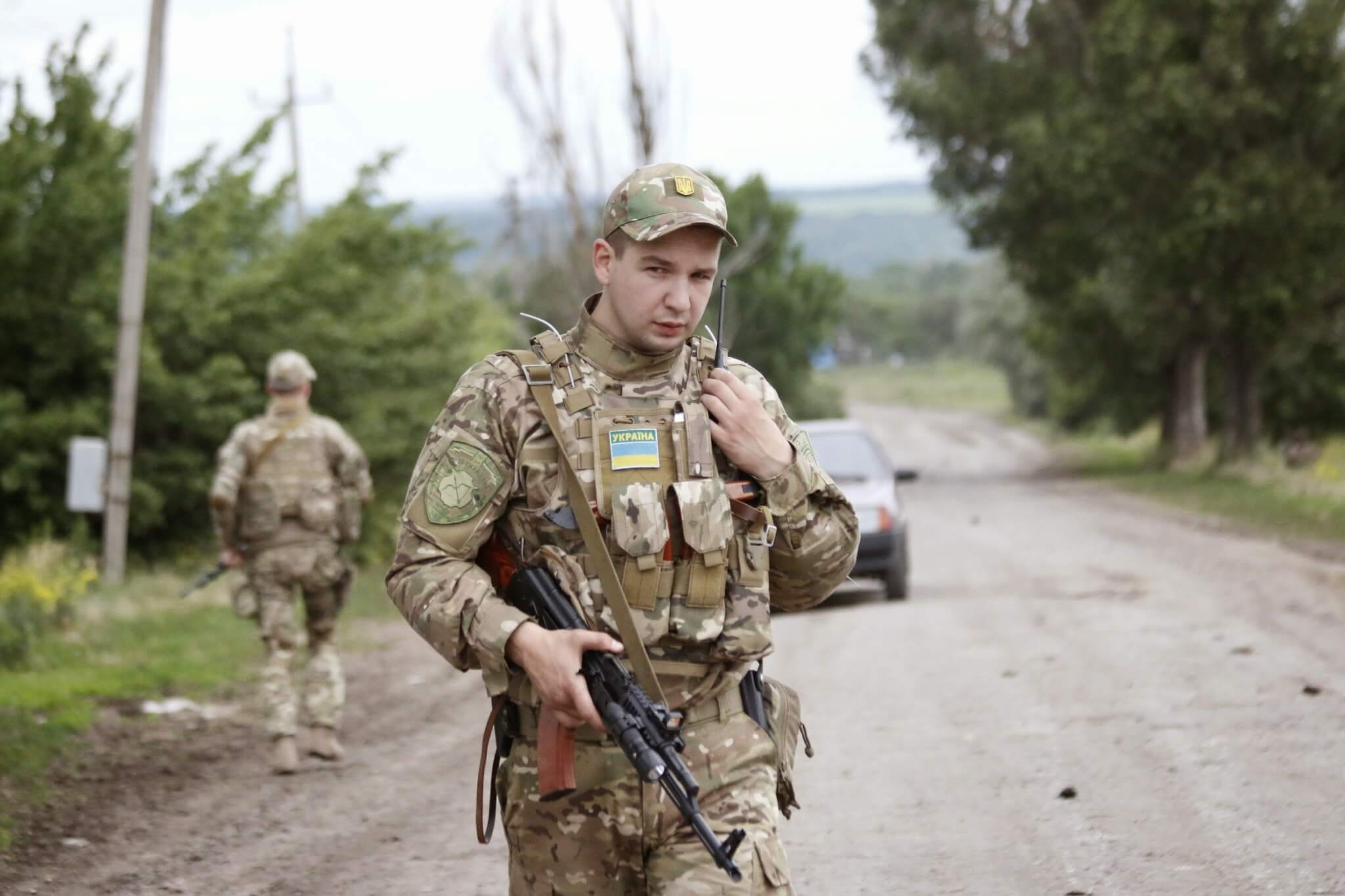 Kuzio-Ukrainian soldier during the war in Donbas in 2014. Wikimediacommons2
