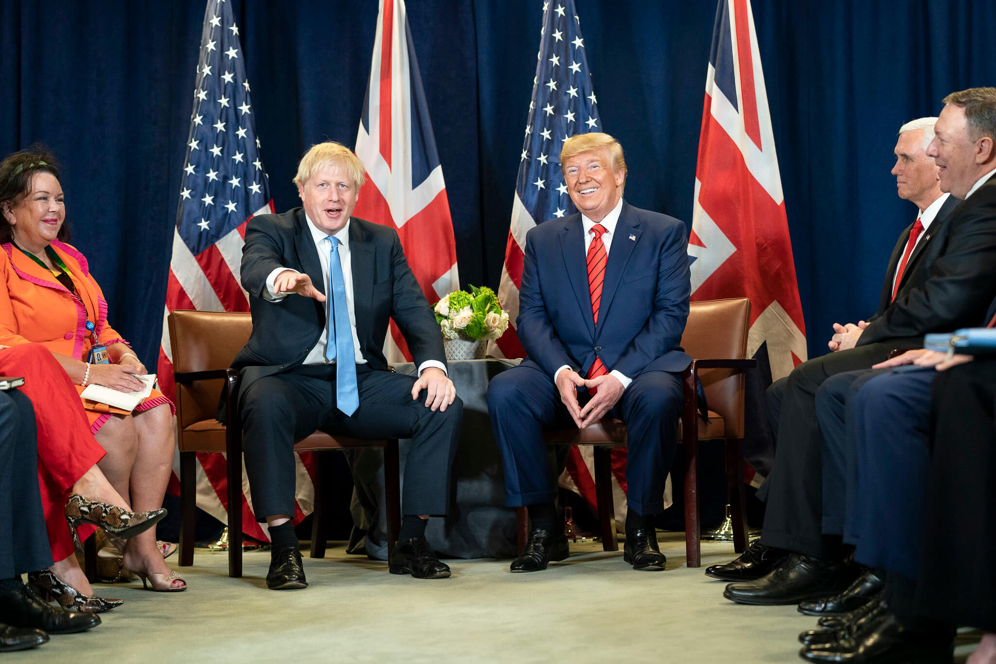 President Donald J. Trump participates in a bilateral meeting with British Prime Minister Boris Johnson in 2019. © The White House