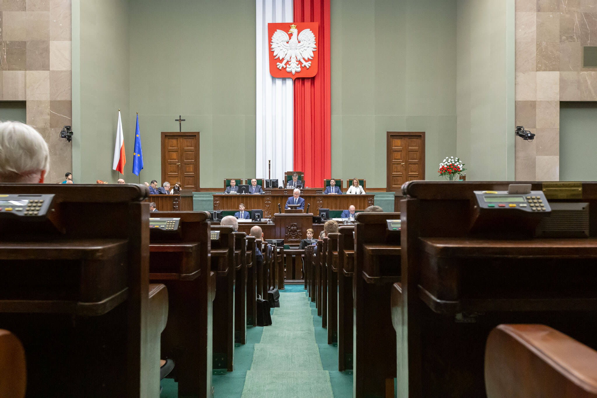 Het Poolse lagerhuis, de Sejm, 2019. © Ministry of Foreign Affairs of the Republic of Poland - Flickr