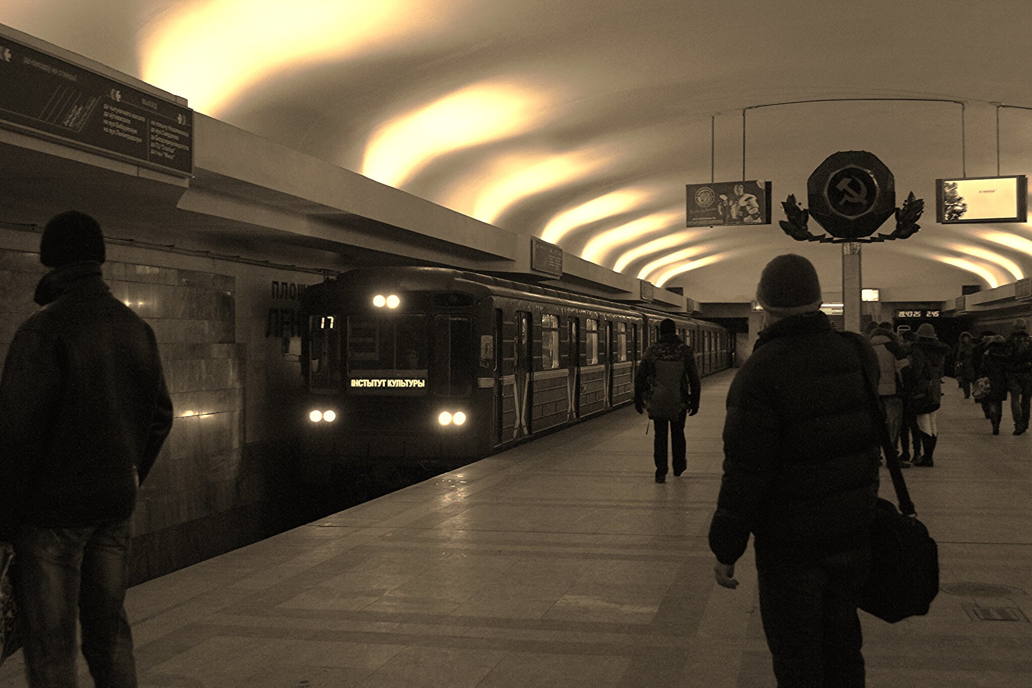 Belarus metro station in Minsk 2010. © Flickr / Isabel Sommerfield