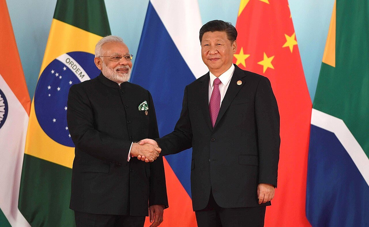 President Modi and President Xi Jinping before a BRICS meeting in 2017. © Wikimedia Commons / www.kremlin.ru