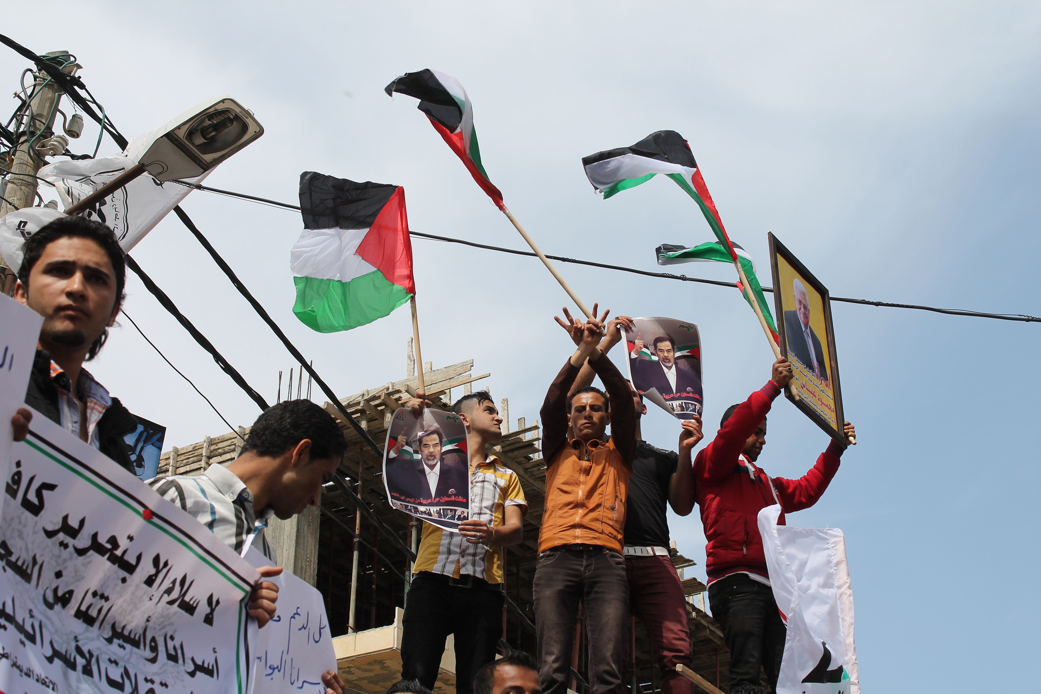 Palestinian Arab Front holds Gaza rally after weekly sit-in for Palestinian prisoners © Joe Catron