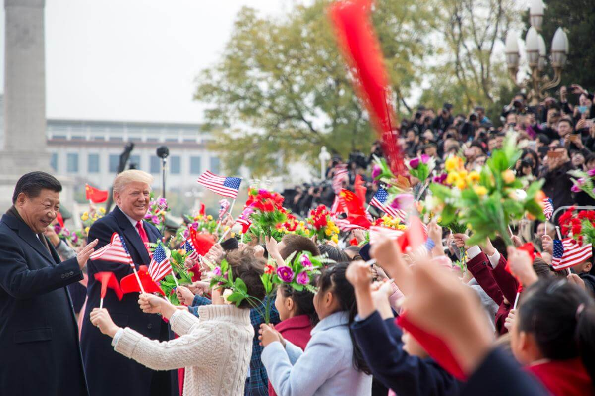 President Donald J. Trump and First Lady Melania Trump arrive in China November 8, 2017 (Official White House Photo by Shealah Craighead)