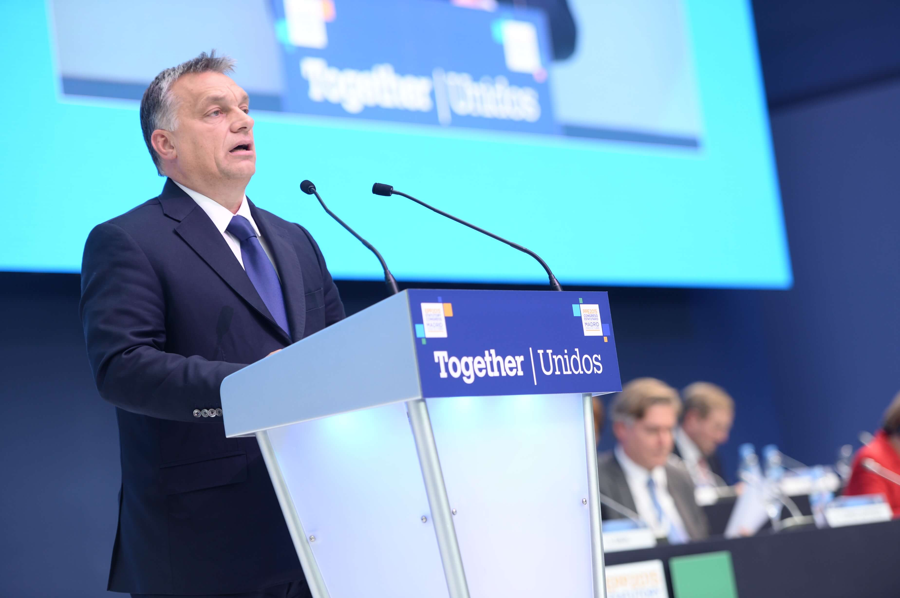 Viktor Orbán at the EPP party congress of 2015