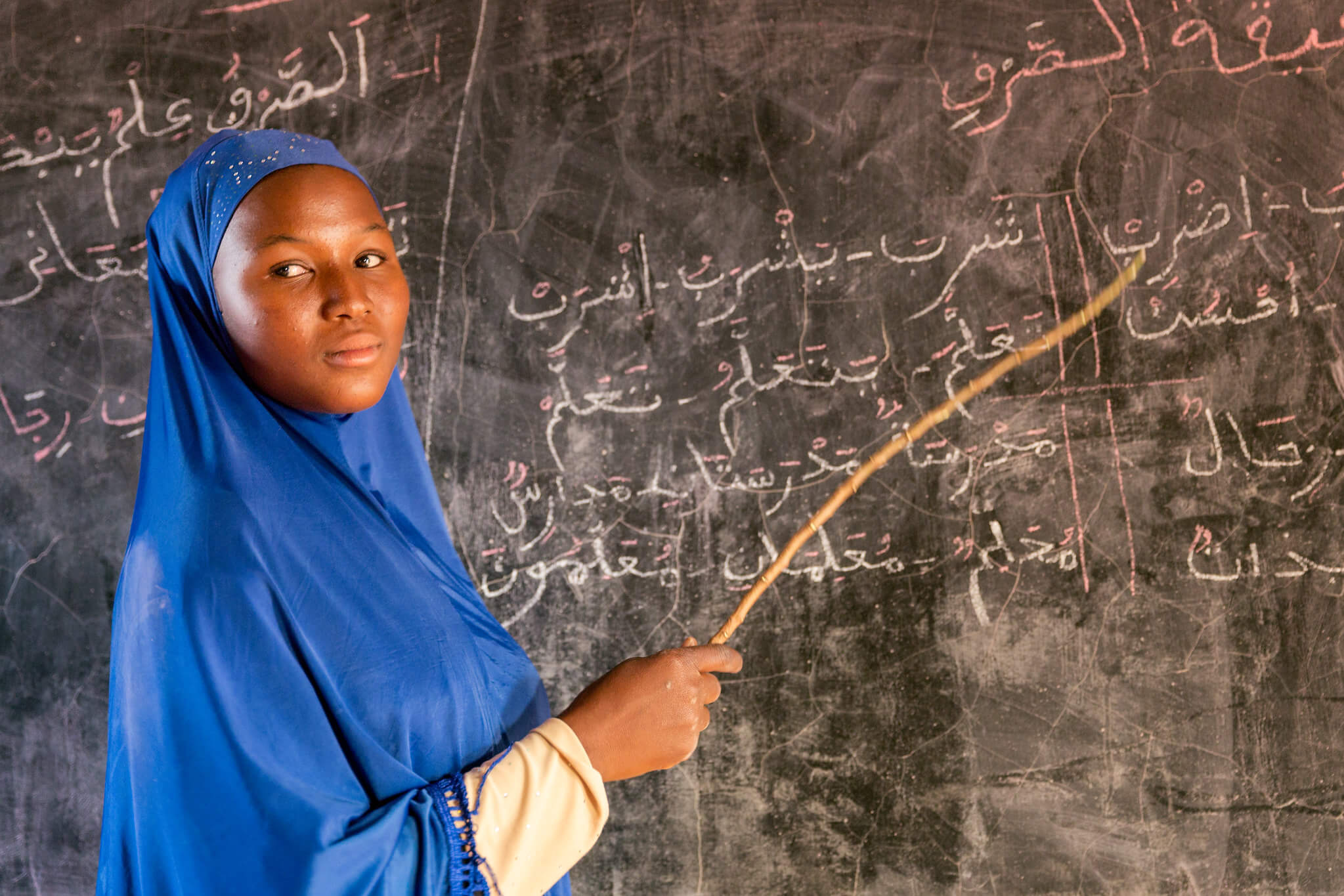 A first year teacher at Madrasa Nourdine in Burkina Faso in 2017. Global Partnership for Education - GPE - Flickr