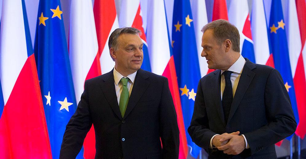 Donald Tusk and Viktor Orban