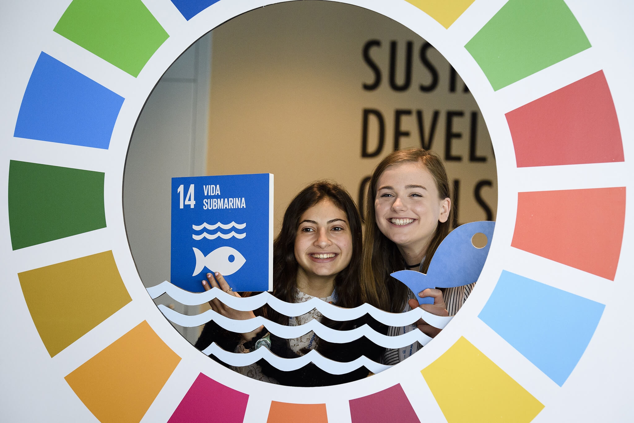 VanNorren-Aandacht voor de Sustainable Development Goals tijdens de UN Ocean Conference in 2017. UN Photo