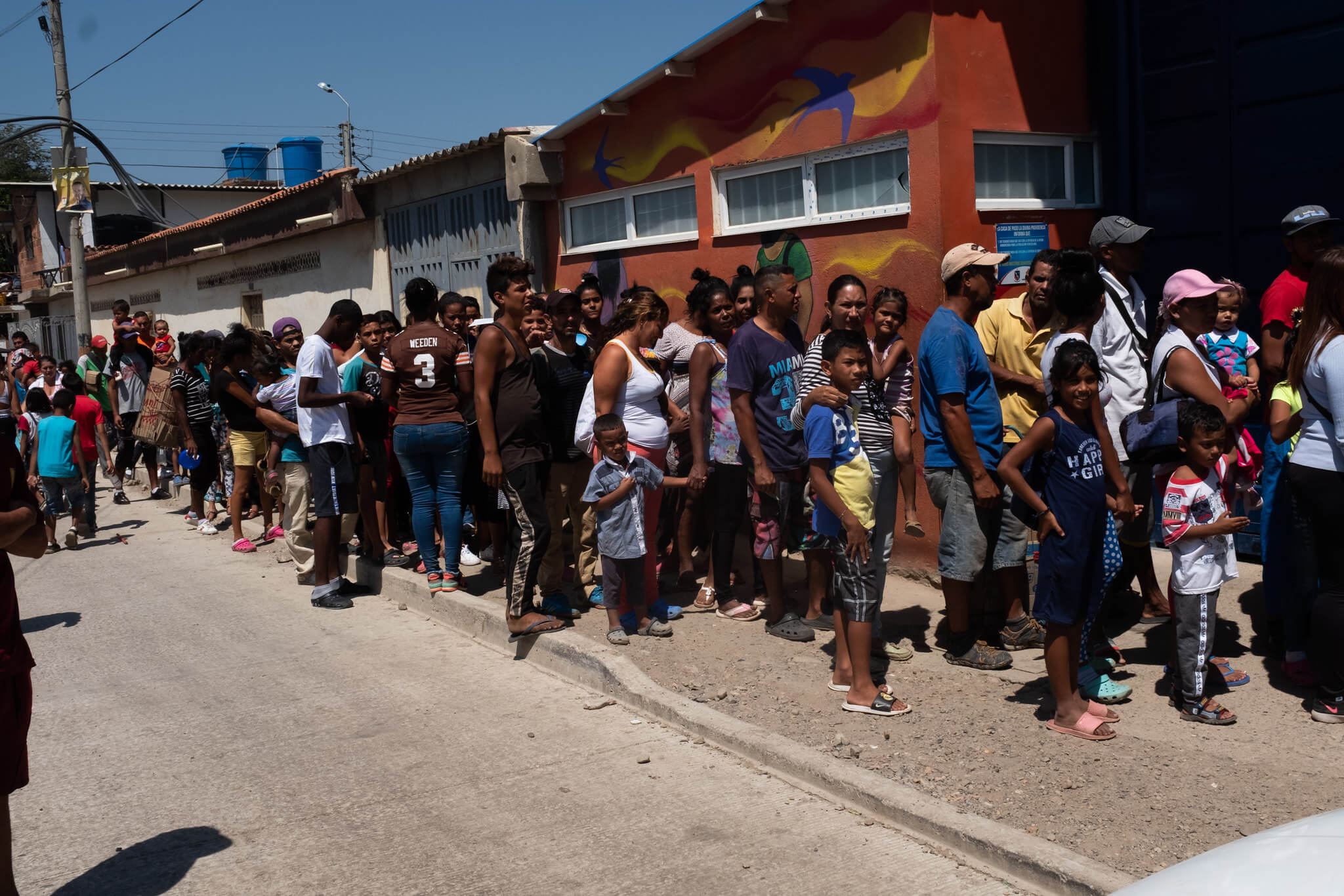 Venezuelan migrants at the Colombian border town Cúcuta in February 2020. Comisión Interamericana de Derechos Humanos
