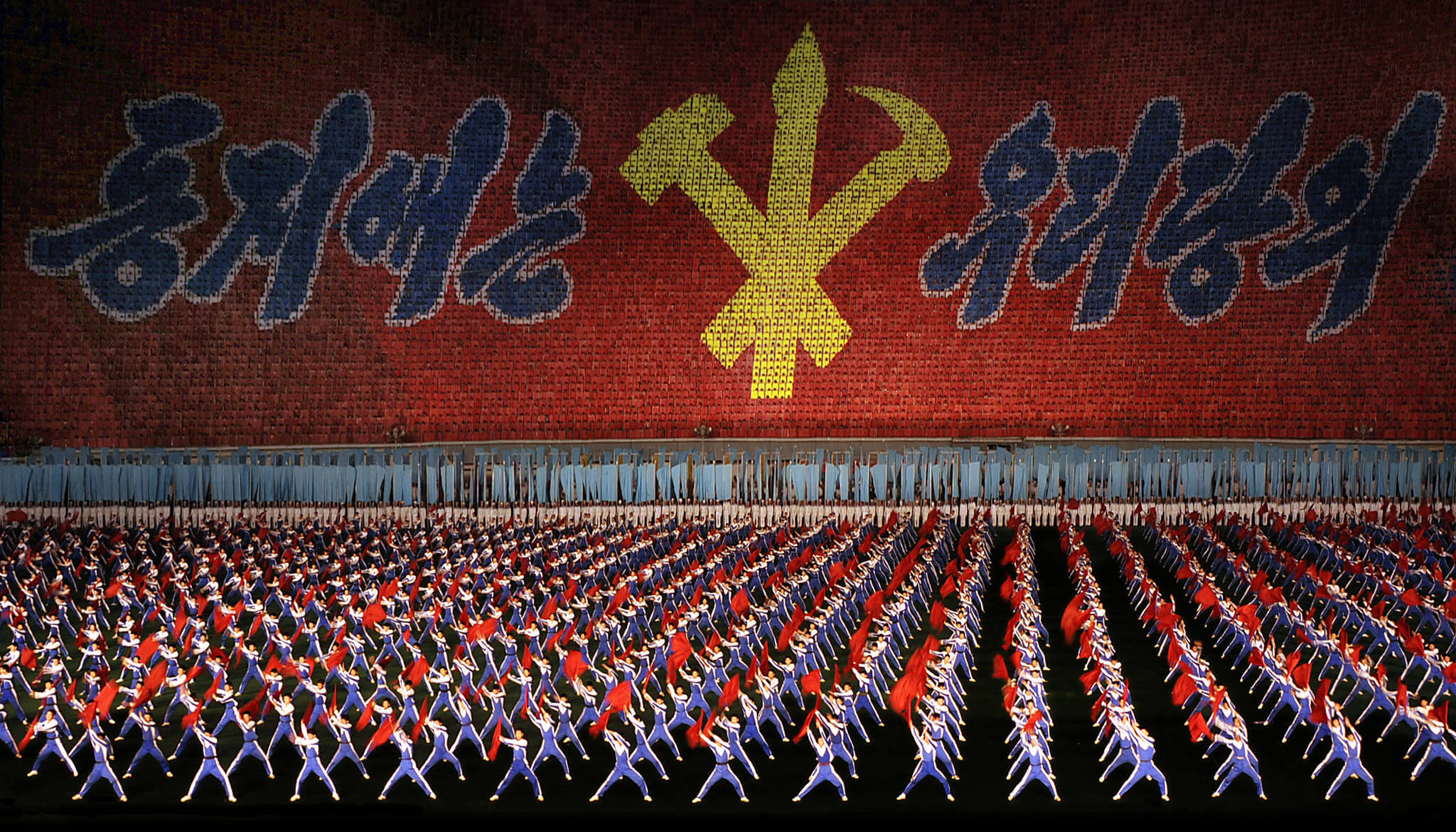 Mass games North Korea 2008-Flickr-mister addd