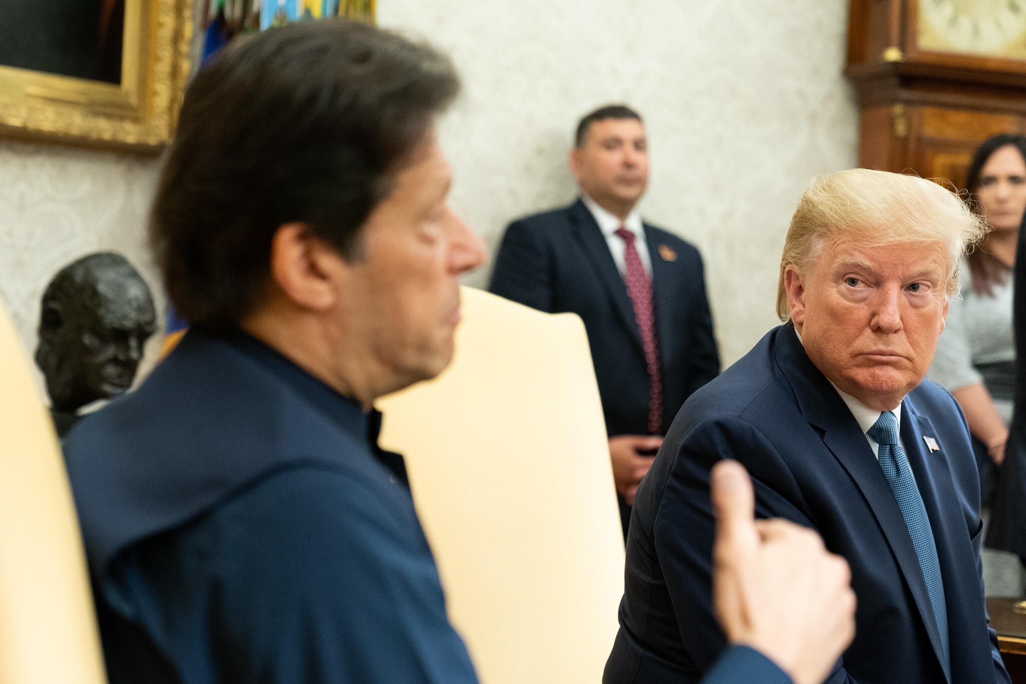 President Donald J. Trump, joined by Prime Minister Imran Khan of the Islamic Republic of Pakistan in July 2019. © Official White House Photo