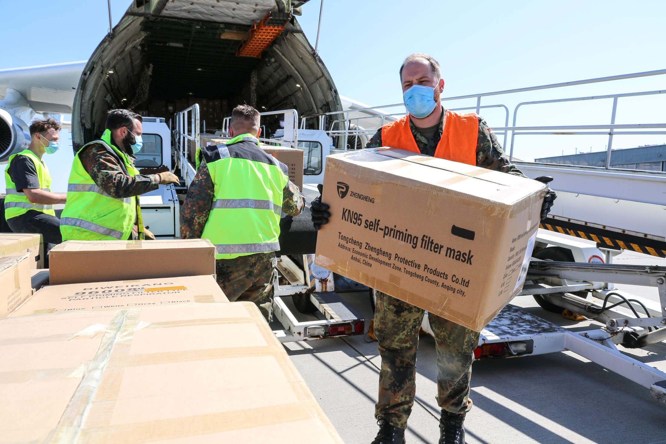 Yinghong-The largest plane in the world arrived in Germany on Monday (27 April 2020) from China bringing urgent medical supplies as part of efforts to help curb the spread of the coronavirus- NATO