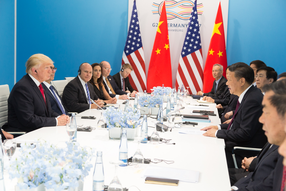 Yinhong - President Donald J. Trump and President Xi Jinping at the G20 in Germany, July 2017. Official White House Photo by Shealah Craighead
