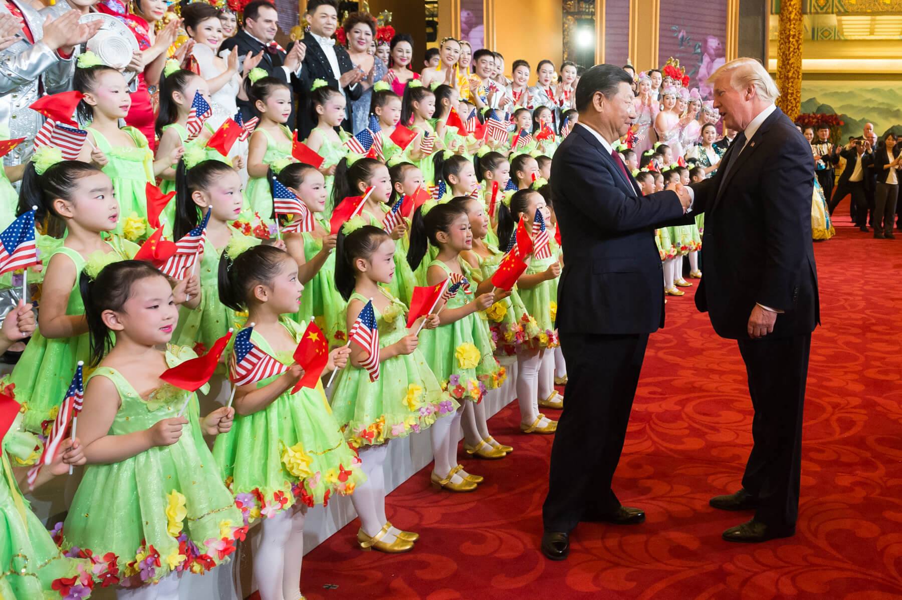 Yinhong - President Donald J. Trump and President Xi Jinping at the Great Hall of the People in Bejing, November 9, 2017. White House Photo