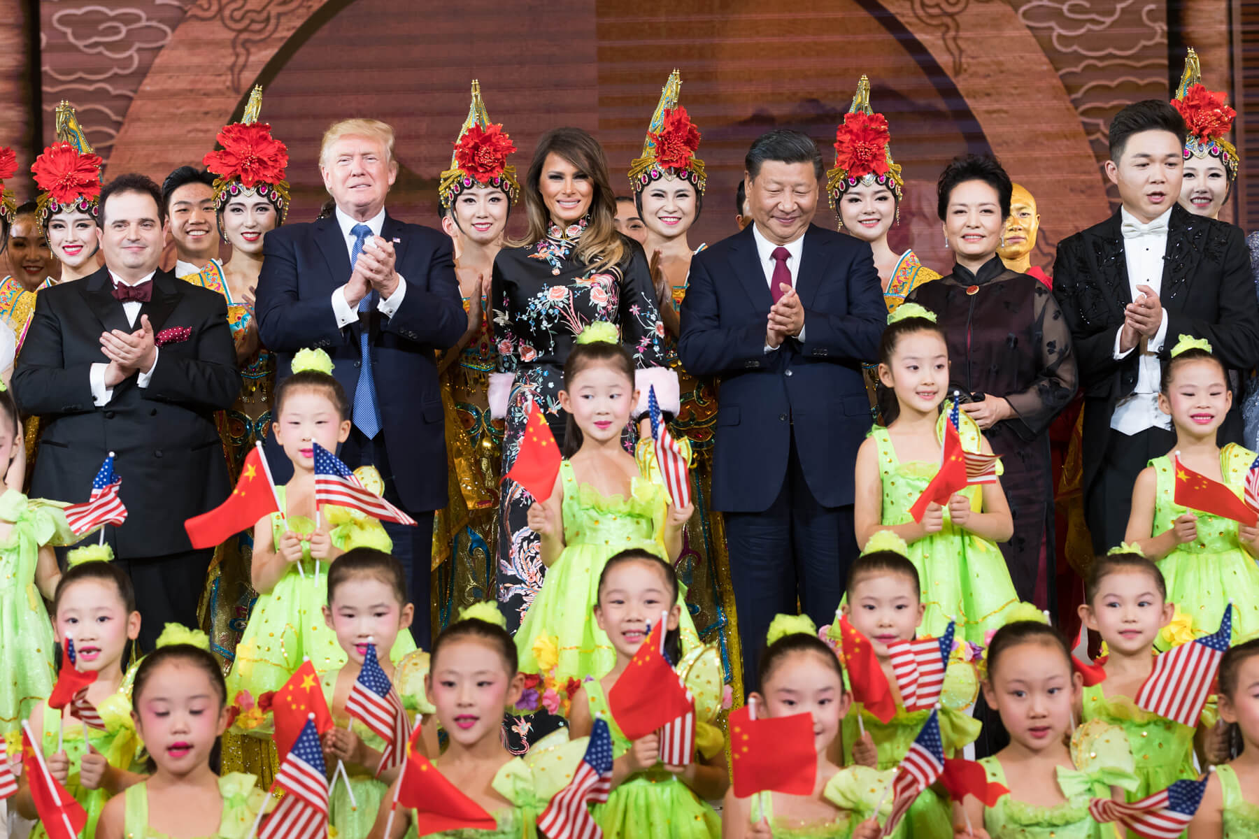 Yinhong - President Donald J. Trump and President Xi Jinping during Trump's visit to China in November 2017. PAS China