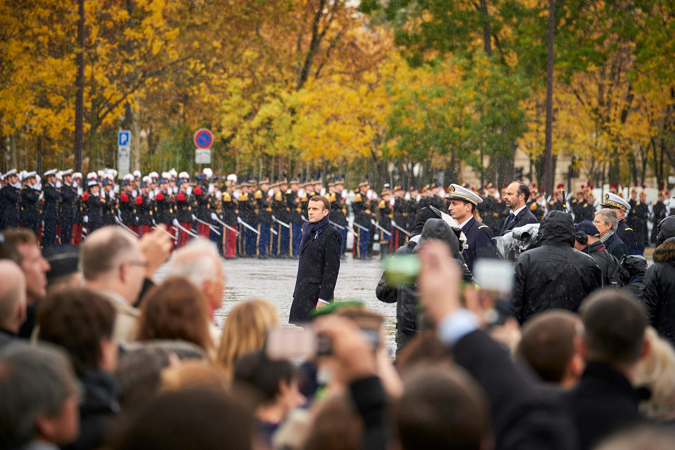 The French President Emmanuel Macron at the WWI Armistice Centenary commemorations in Paris. © NATO/Flickr