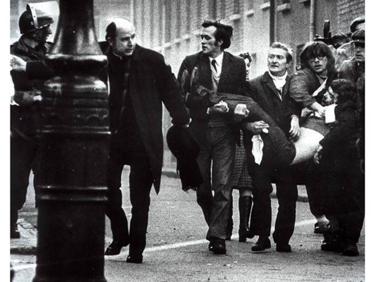 Bloody Sunday in Derry, 1972.