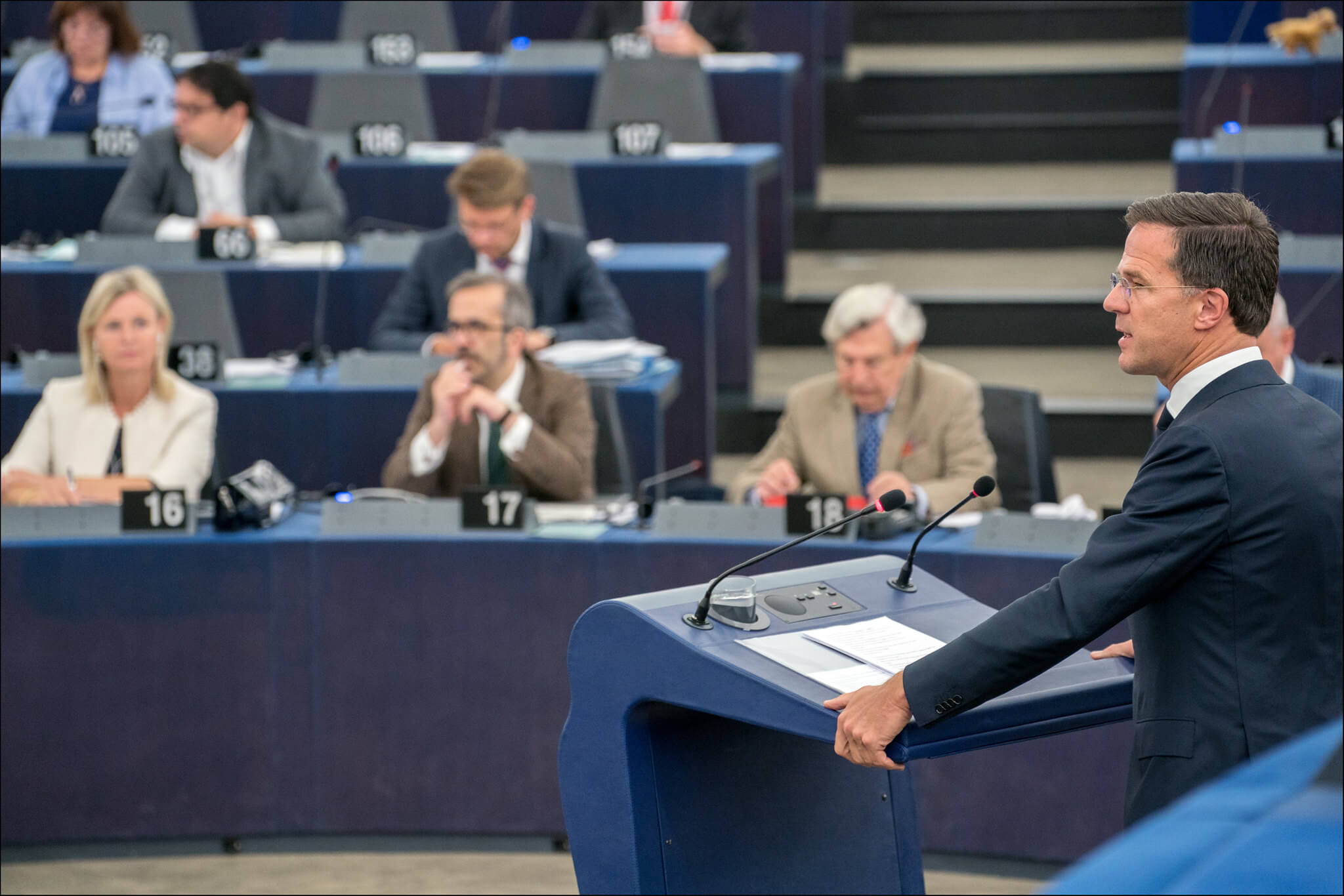 Rutte in het Europees Parlement