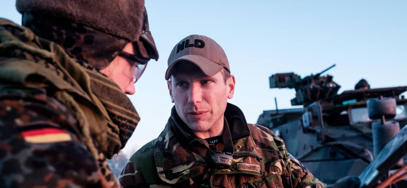 De Bundeswehr in zwaar weer