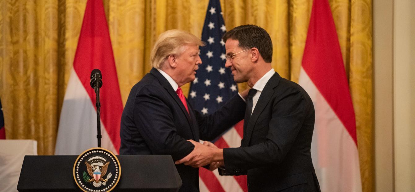De ongemakkelijke dans van Rutte met Trump