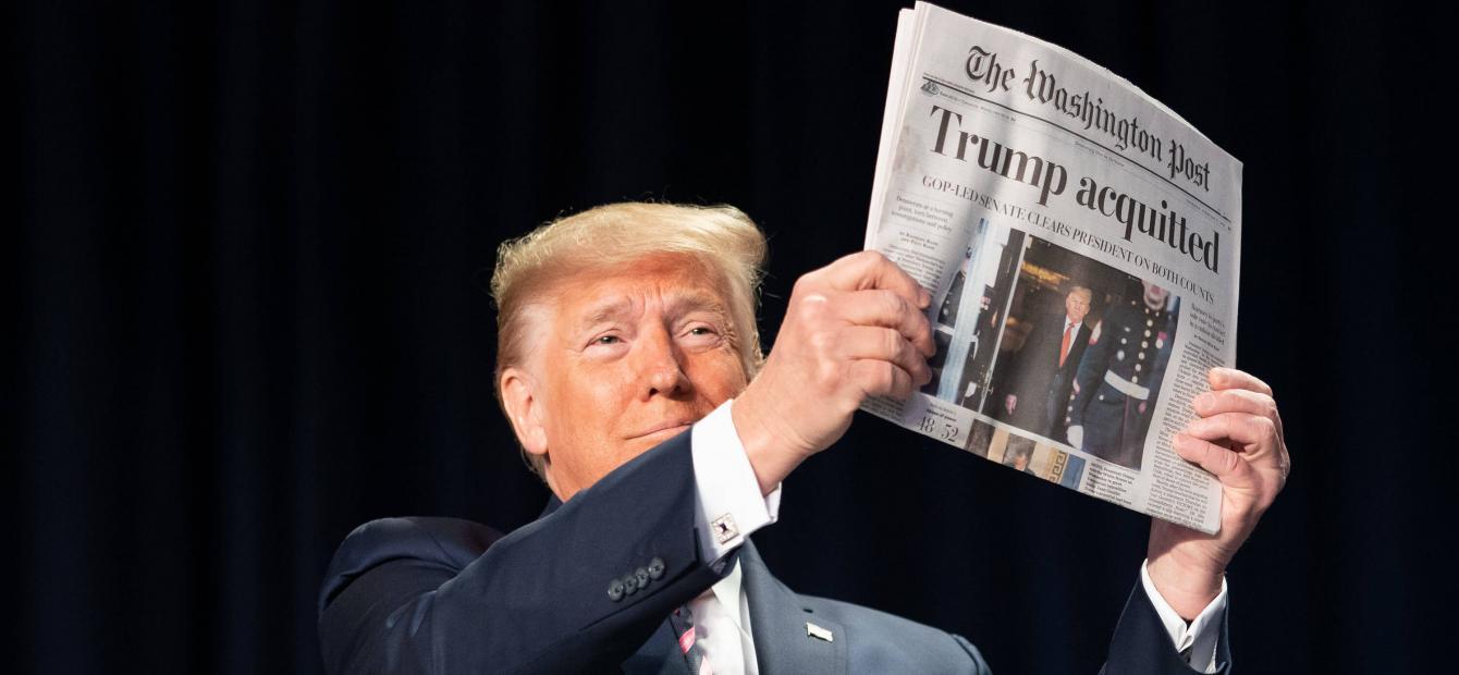 'A very stable genius' in het Witte Huis