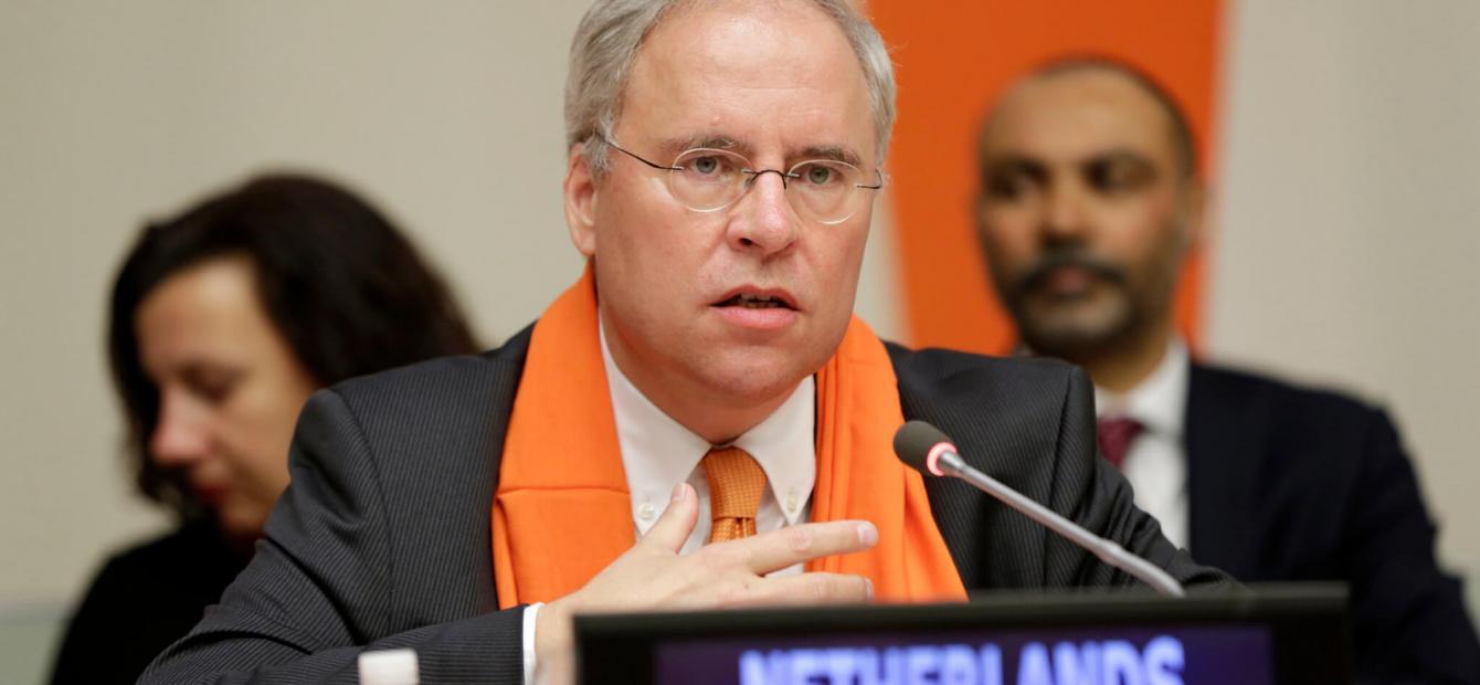 Met een oranje das in de VN-Veiligheidsraad
